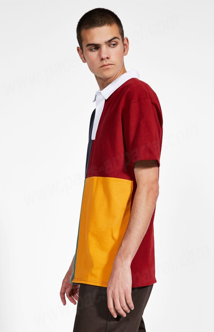 Brixton Man Multi Pacsunseason Colorblock Polo Tee - -2