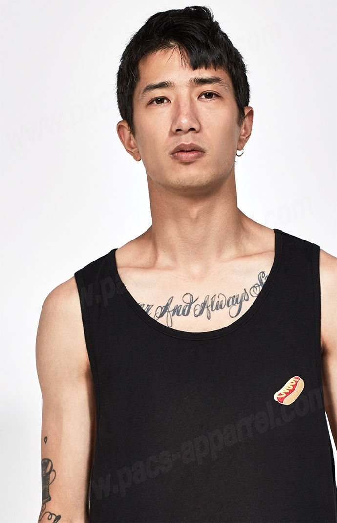 Champion Mens Black Pacsunorford Relaxed Tank Top - -1