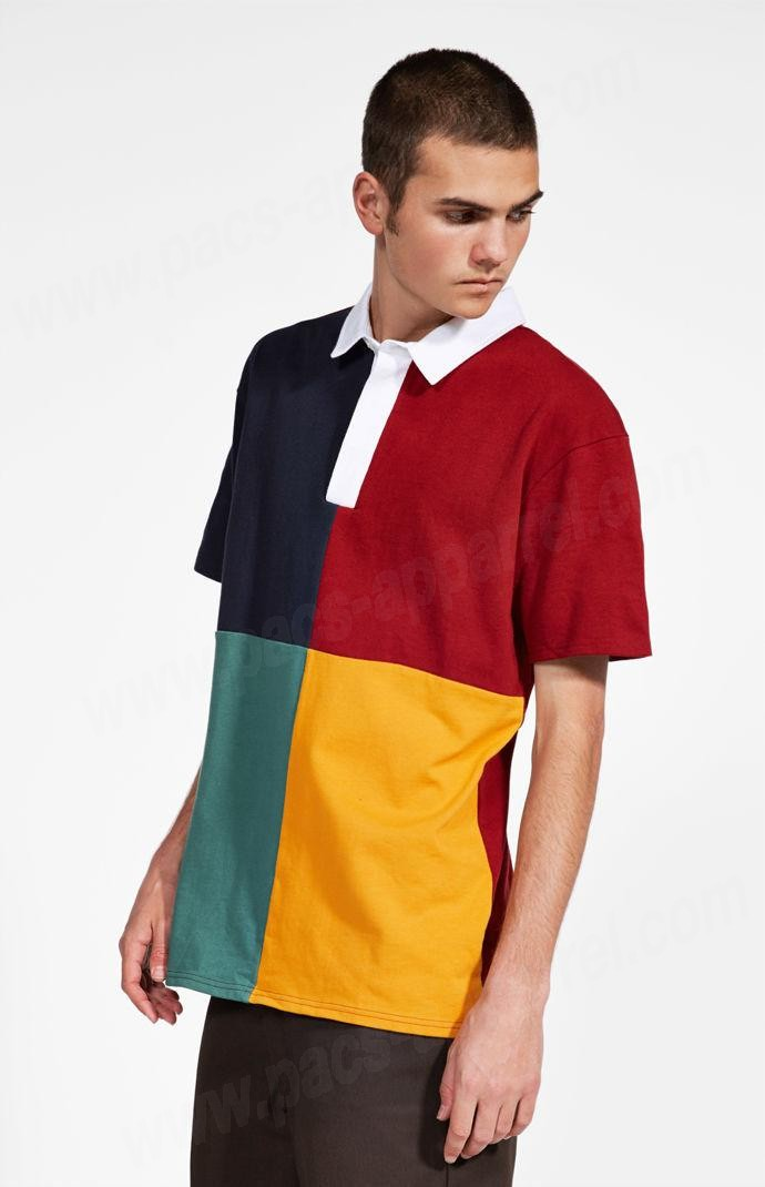 Brixton Man Multi Pacsunseason Colorblock Polo Tee - Brixton Man Multi Pacsunseason Colorblock Polo Tee
