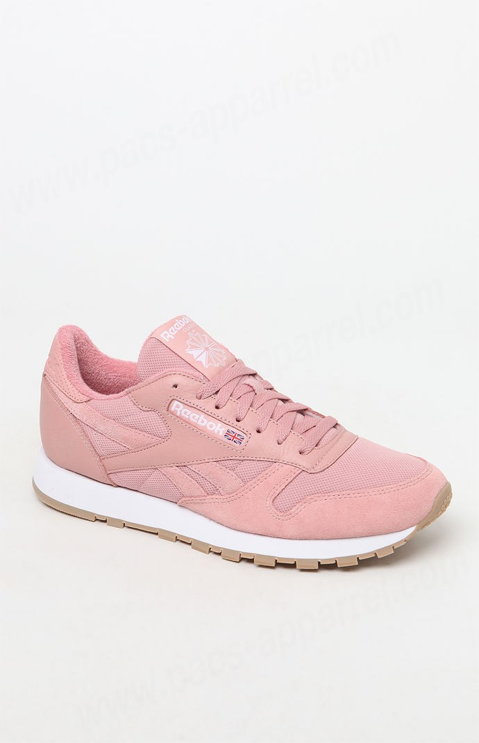 Foundation Footwear Men Pink/white Reebokclassic Leather Pink And White Estl Sneaker - Foundation Footwear Men Pink/white Reebokclassic Leather Pink And White Estl Sneaker