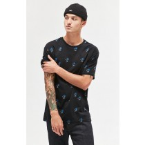 Pacsun Men Black Pacsunkygo Floral Relaxed Shirt